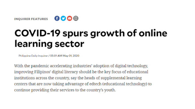 COVID-19 spurs growth of online learning sector